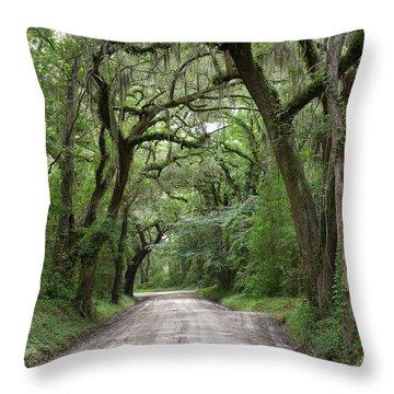 Plantation Road II Throw Pillow