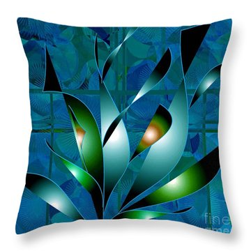 Planted Beauty Throw Pillow by Iris Gelbart