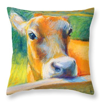 Playing Bashful Throw Pillow by Bethany Bryant