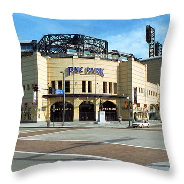 Pnc Park - Pittsburgh Pirates Throw Pillow by Frank Romeo