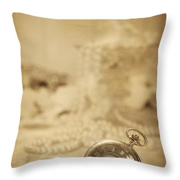 Pocket Watch Throw Pillow by Amanda Elwell