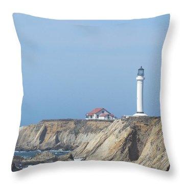 Point Arena Lighthouse Throw Pillow