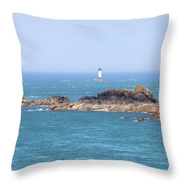 Pointe Du Grouin - Brittany Throw Pillow by Joana Kruse
