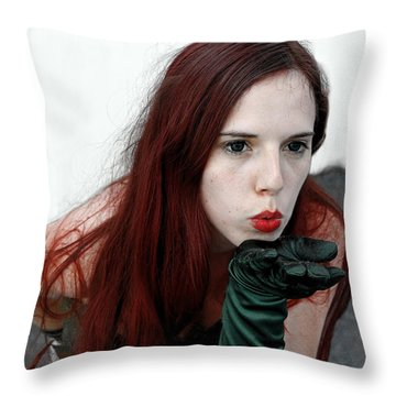 Throw Pillow featuring the photograph Poison Ivy by Viktor Savchenko
