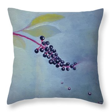 Pokeberries Throw Pillow
