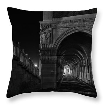 Ponte Della Paglia Throw Pillow by Marion Galt