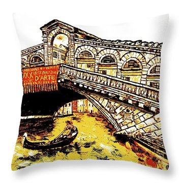 An Iconic Bridge Throw Pillow