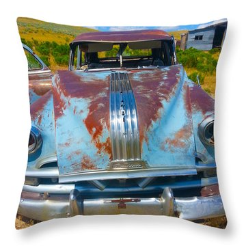 Pontiac Blues Throw Pillow
