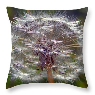 Throw Pillow featuring the photograph Poof by Joseph Skompski