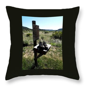 Throw Pillow featuring the photograph Poor Soles by Carlee Ojeda