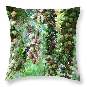 Poplar Secrets Throw Pillow by Shirley Sirois