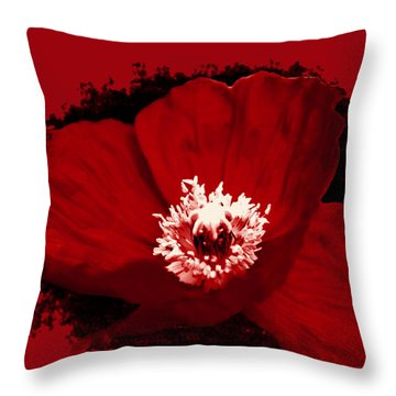 Poppy Throw Pillow by Tiffany Erdman