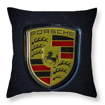 Porsche Logo Throw Pillow