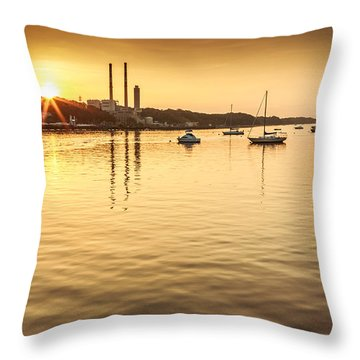 Port Jefferson Throw Pillow by Mihai Andritoiu