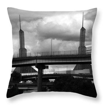 Portland Bridge Throw Pillow