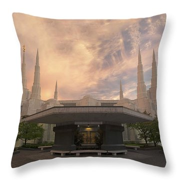 Portland Temple Throw Pillow