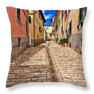 Portoferraio - Isle Of Elba Throw Pillow