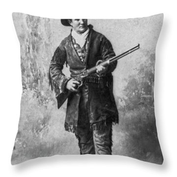 Portrait Of Calamity Jane Throw Pillow