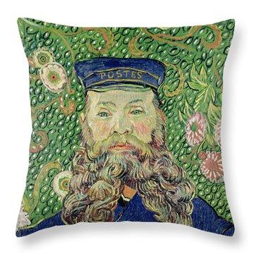 Portrait Of The Postman Joseph Roulin Throw Pillow by Vincent Van Gogh