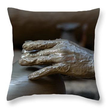 Potter At Work Throw Pillow