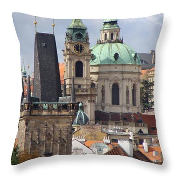 Throw Pillow featuring the photograph Prague by Ira Shander