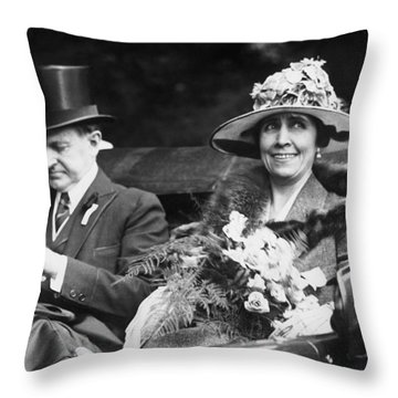 President And Mrs. Coolidge Throw Pillow