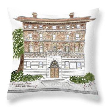 President's House-columbia University Throw Pillow