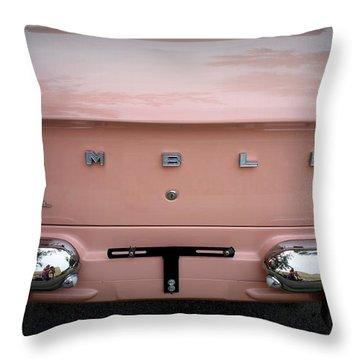 Throw Pillow featuring the photograph Pretty In Pink by Laurie Perry