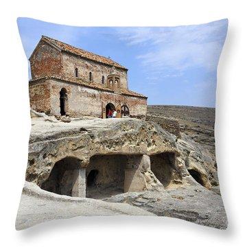 Prince's Church In Uplistsikhe Gori Georgia  Throw Pillow by Robert Preston