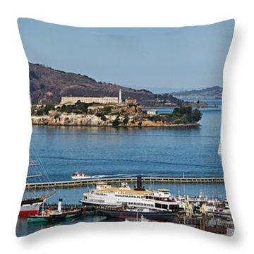 Prison On An Island, Alcatraz Island Throw Pillow