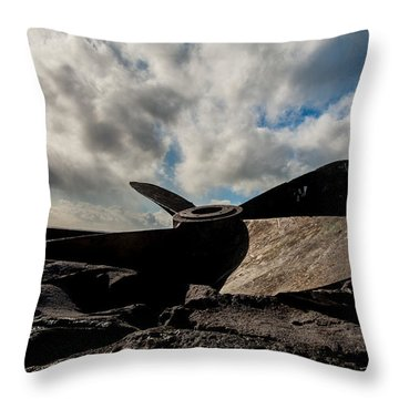Propeller On The Beach Throw Pillow