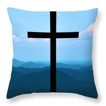 Psalm 121 Throw Pillow by Bob Sample