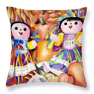 Pumpkin Patch Party Throw Pillow