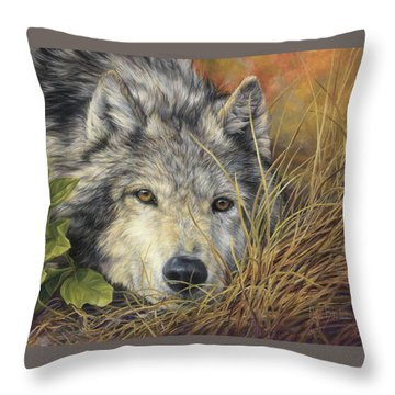 Pure Soul Throw Pillow by Lucie Bilodeau