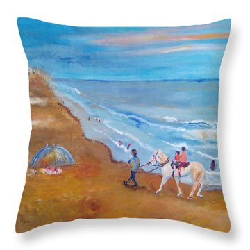 Puri Throw Pillow by Geeta Biswas
