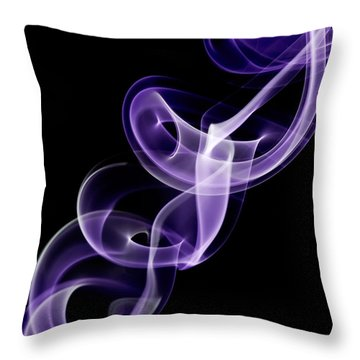 Throw Pillow featuring the photograph Purple by Vickie Szumigala