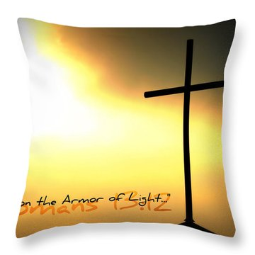 Put On The Armor Of Light Throw Pillow