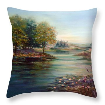 Quiet Day On The Lake Throw Pillow