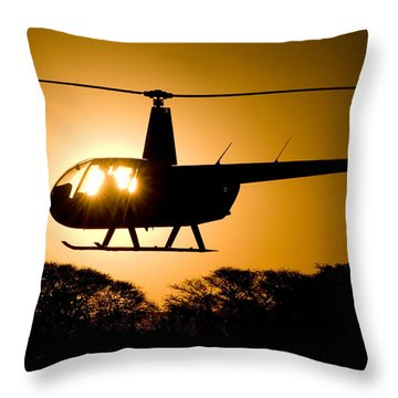 R44 Sunset Throw Pillow