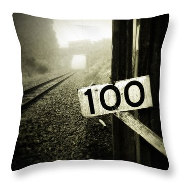 Railway  Throw Pillow by Les Cunliffe