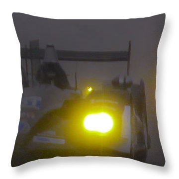 Rain Racers Throw Pillow