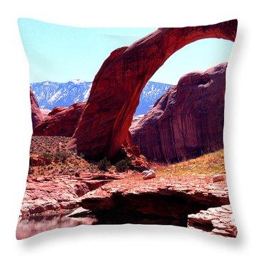 Rainbow Bridge National Monument Throw Pillow by Thomas R Fletcher