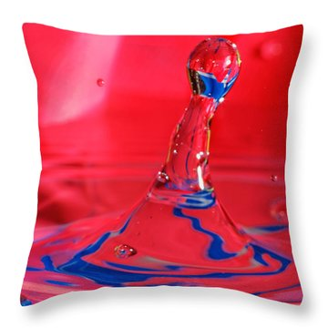 Throw Pillow featuring the photograph Rainbow Drop by Peter Lakomy