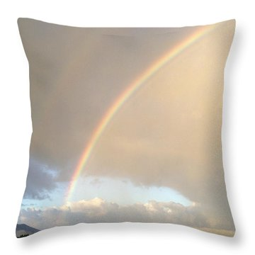Rainbow  Throw Pillow by Les Cunliffe