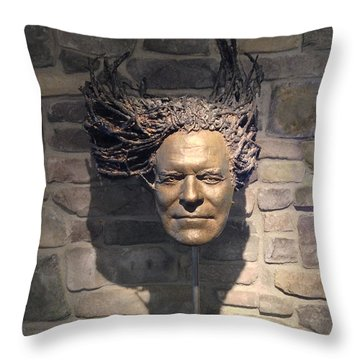 Throw Pillow featuring the painting Rasta by Dan Redmon