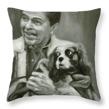 Reagan And Rex Throw Pillow