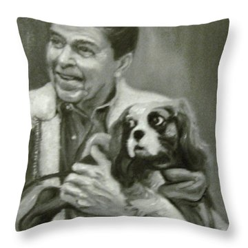Reagan And Rex Throw Pillow by Martha Suhocke