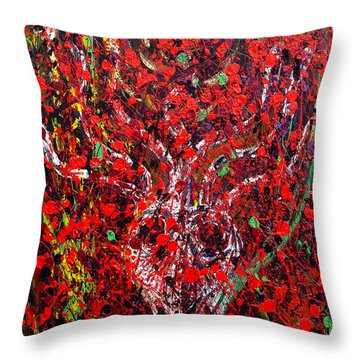 Recurring Face Throw Pillow by Ryan Demaree
