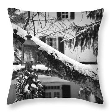 Holiday Candle Light Throw Pillow