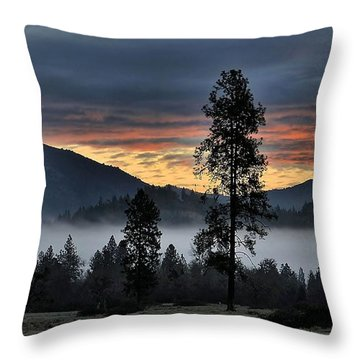 Throw Pillow featuring the photograph Red Dawn by Julia Hassett